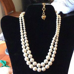 Carolee Vintage Double Stand Faux Pearls